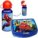 alles-meine GmbH 2 tlg. Set _ Brotdose / Lunchbox & Trinkflasche -  Ultimate Spider-Man  - in..