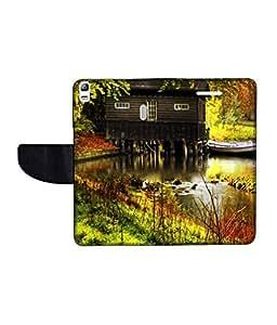 KolorEdge Printed Flip Cover For Lenovo A7000 Multicolor - (55KeMLogo09857LenovoA7000)