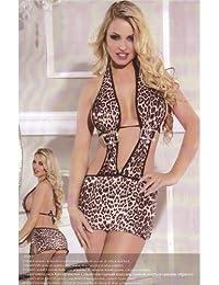 Robe sexy léopard