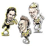BVB Borussia Dortmund 50 Stück HAFTSTICKER incl. SAMMELFELD + GEWINNSPIEL