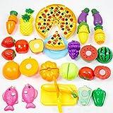 Omiky Kinder Küche Abendessen Schneiden Leckereien Spaß Spielen Essen Set Wohnzimmer Spielzeug (Mehrfarbig)