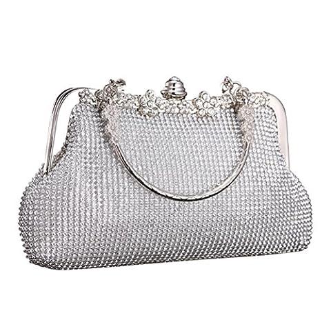 Aosbos Women Elegant Wedding Party Clutch Ladies Diamante Handbag Ceremony