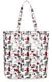Lulu Guinness London Print Large Laminate Lily Tote Bag RRP 55