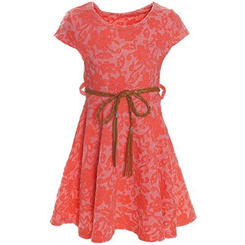 BEZLIT Kinder Mädchen Kleid Peticoat Fest Freizeit Sommer-Kleider Kostüm 21228 Rot Größe 164 (Mädchen Hochzeit Kleid Kostüm)