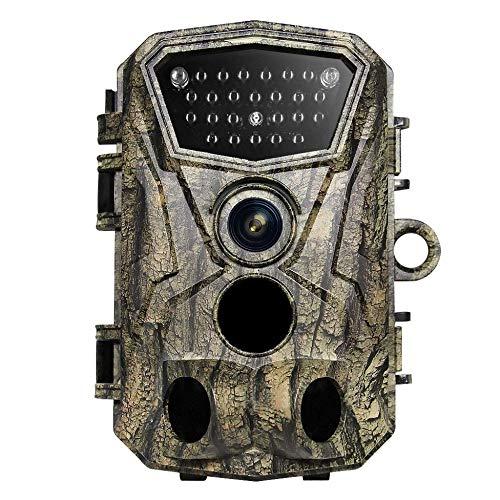 OMZBM Upgrade 2,4 Zoll 18MP 1080P Jagdkamera, Trap Photo Night Vision PIR Sensor Game Scout Guard Chasse Hunter Wildlife Kamera mit 32G Memory Card Digital Scout Cam