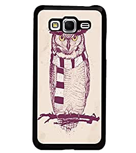 PrintDhaba Owl D-1246 Back Case Cover for SAMSUNG GALAXY GRAND PRIME (Multi-Coloured)