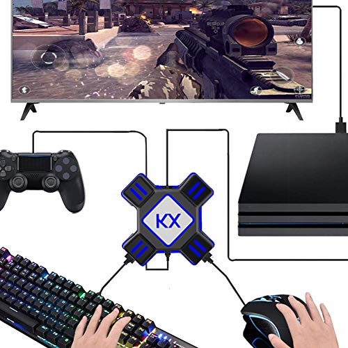 USB Game Controller Konverter Tastatur Maus Adapter für Switch/Xbox / PS4 / PS3, Schwarz ()