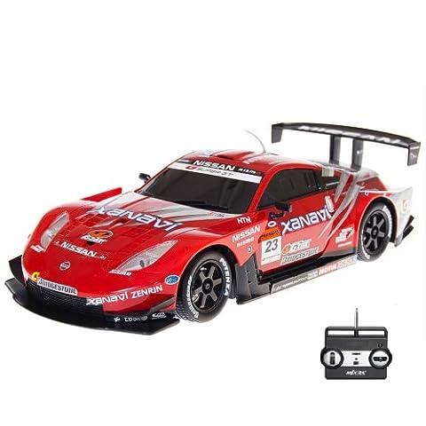 NISSAN FAIRLDAY Z SUPER GT500 #23 - RC ferngesteuertes Lizenz-Fahrzeug im Original-Design, Modell-Maßstab 1:20, Ready-to-Drive, Auto inkl. Fernsteuerung und Akku, (Super-racing Seat)
