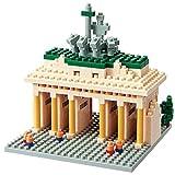 nanoblock NBH-031- Brandenburger Tor, Minibaustein 3D-Puzzle, Sights to See Serie, 440 Teile, Schwierigkeitsstufe 3, schwer
