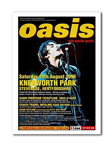 Oasis Knebworth 1996 Concert Poster - A3 size unframed Art Print