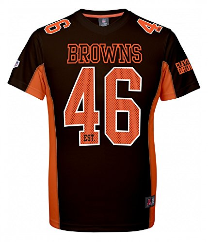 Majestic NFL Mesh Polyester Jersey Shirt - Cleveland Browns S Brown