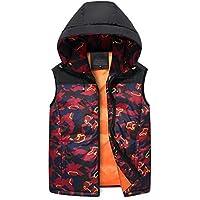 GXS Moda masculina otoño/invierno. Chalecos de camuflaje. Tamaño edredón, chaquetas sin mangas de algodón en colores mezclados. La adición de fertilizantes para aumentar la impresión chaleco de algodón. Abrigo de invierno , 4xl , red