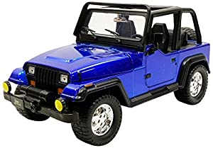 Jada Toys-Wrangler 1992Jeep vehículo en Miniatura, 98081bl-98082bl, Azul, (Escala 1/24