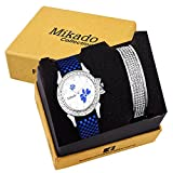 #8: Mikado New fashionable and White dial butterfly casual analog watch with one stylish bracelet for women and girls Watch - For Girls