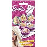 Dekoback 12 Zucker-Muffinaufleger Barbie, 1er Pack (1 x 22 g)