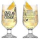Old Mout Cider - Bicchieri da sidro, edizione limitata, capacità 0,6 l, 2 pezzi