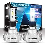 welltobuy LED Scheinwerfer Autoscheinwerfer Kit mit LED Chips Licht Einstellbar Luftfahrt Aluminium Abblendlicht für Auto Ersetzt Halogen & Hid Lampen