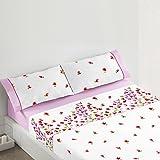 Burrito Blanco - Juego de sábanas 440 para cama 150x190/200 cm, color rosa