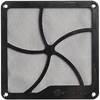 SilverStone SST-FF141B - Rejilla para ventilador de 140mm y filtro de polvo, imán, negro