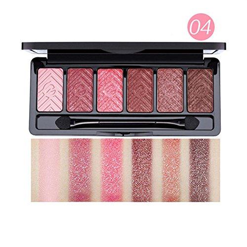 ❤️ Fard à paupières,Luxe Naturel 6 couleurs scintillement Matte Eye Shadow Set ombre à paupières palette beauté cosmétiques nouveau maquillage palette de fard à paupières by LHWY (D)