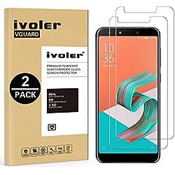 iVoler [Pack de 2] Verre Trempé pour ASUS Zenfone 5 Lite ZC600KL 6.0 Pouces, Film Protection en Verre trempé écran Protecteur vitre