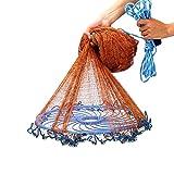 RKY Frisbee-Typ Handwerfnetz-Reifenschnur Robustes Fischernetz-Streunetz Leicht zu werfendes...