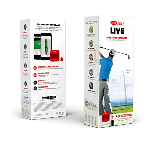 Game Golf Live Tracking Device – Red