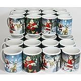 Annastore 36 x Glühweinbecher - Weihnachtstassen Weihnachtsbecher Glühweintassen