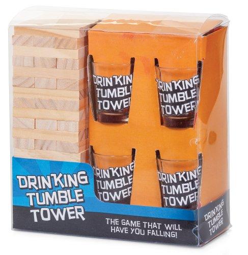 Tobar - Smonta la torre, Gioco alcolico, incl. bicchieri [lingua inglese]
