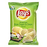 #1: Lays Potato Chips - American Style Cream and Onion, 52g Pouch