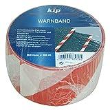 5 Rollen Kip Warnband Rot / weiß 60mm x 66m selbstklebendes Absperrband in Warnfarben Flatterband Absperrband Trassenband