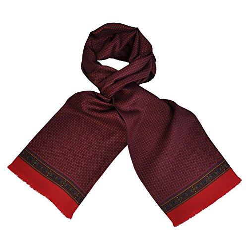toutacoo-foulard-en-soie-carven-pour-homme-tic-tac-rouge-couleur-multicolore