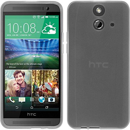 PhoneNatic Case für HTC One E8 Hülle Silikon weiß, transparent + 2 Schutzfolien