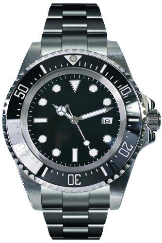PARNIS Herren-Armbanduhr 2033 Analog Automatik Edelstahl-Armband