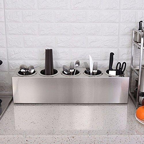SSBY Cofanetto portaposate in acciaio inox coltello e forchetta bacchette stoccaggio scatole utensili da cucina filtro acqua reimpostare la tabella bacchette,5