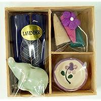Guru-Shop Räucher & Duftset - Lavender, 2x7x7 cm, Räucherstäbchen, sets aus Thailand preisvergleich bei billige-tabletten.eu