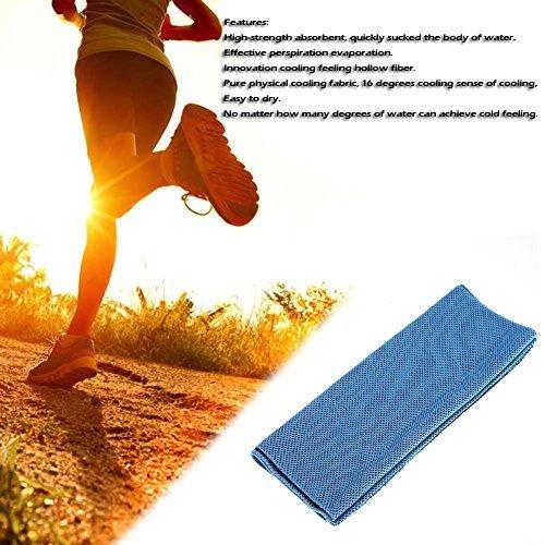 broadroot Sport Kühlendes Handtuch, Wasseraufnahme Outdoor Sweat Waschlappen himmelblau