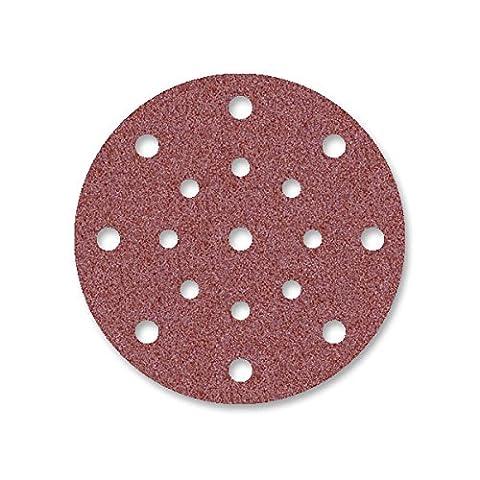 50 Disques abrasifs auto-agrippants MioTools pour ponceuse excentrique - Ø 150 mm - grain 40 - 17 trous