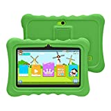 [2019 Upgrade] YUNTAB Q88H 7-Zoll-Kinder-Tablet mit Parent-Control-Kinder-APP, Android 4.4,1 GB RAM + 8 GB ROM, Allwinner A33 Quad-Core 1,5 GHz, Dual-Kamera, WLAN und Bluetooth(Grün)