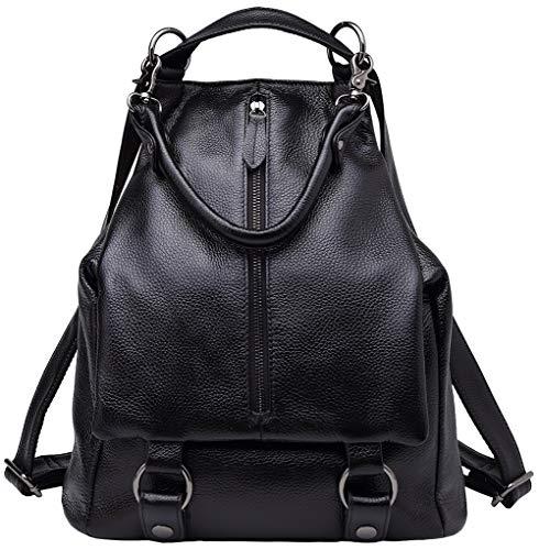 Rucksack aus echtem Leder für Damen Geldbörse Tagesrucksäcke Crossbody Umhängetasche weiblich (Sling-rucksack Hobo Echtes Leder)