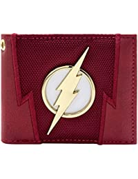 Cartera de DC Flash Rayo insignia Juego para arriba rojo