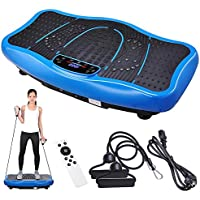 ReaseJoy Upgarded Vibration Power Plate Crazy Fitness Exercise Machine Oscillating Platform with Bluetooth MP3 Speaker Bluetooth MP3 Speaker Blue/Black