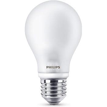Philips Bombilla LED E27, 6.7 W equivalentes a 60 W en incandescencia, luz blanca cálida
