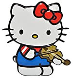 Unbekannt 3-D Effekt - Wandtattoo / Fensterbild / Sticker -  Katze - Hello Kitty  - wasserfest - selbstklebend Pop-Up - Aufkleber Wandsticker Kätzchen mit Violine / Geige - Musikinstrument