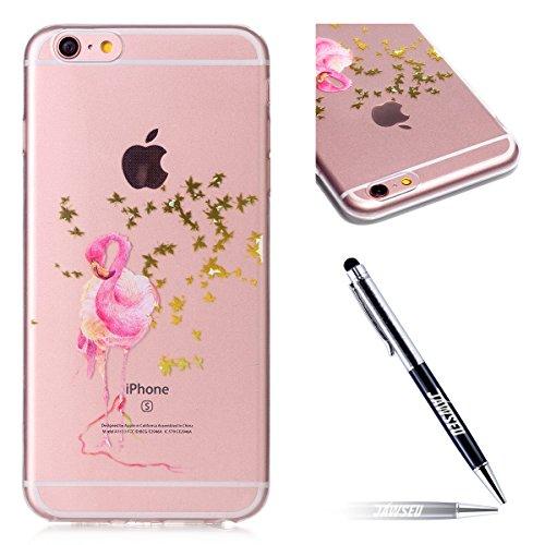iPhone 6S Plus Coque en Silicone Ultra Mince,iPhone 6 Plus Étui Cristal Clair en Tpu,iPhone 6 Plus/6S Plus 5.5 Housse Etui de Protection Mode Drôle lovely Motif Ultra Slim Soft Clear Case Transparent  *6