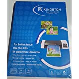 Lukia Kingstone Laminating Pouch Film(A4 Size) Pack Of 100Pcs: Clear Film 125 Micron
