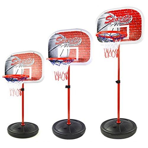 Pallacanestro stand mobile, Hipsteen 50 - 147cm Bambini Basket Sport Portatile Tabellone Basket Stand 4 Sezioni Regolabile Altezza Con Gonfiatore