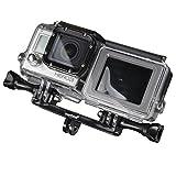 Mantona 21051 Double Befestigungsadpter (für GoPro Hero 6 5 4 3+ 3 2 1, Session und andere kompatible Action Cams)