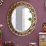 TiedRibobns Vintage Antique Style Wall Mirror Glass For Bedroom Home Décor Living Room Bathroom With High Quality Plastic Frame