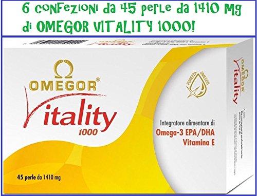 OMEGOR VITALITY 1000 - 270 PERLE DA 1410 mg (6 box da 45 perle)